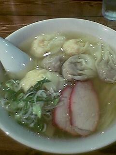 『支那そば八雲  池尻大橋』 白ダシ特製ワンタン (2005/09/17)